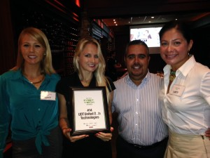 UDT's SMB Managed IT as a Service South Florida Sales team with UDT's Fast Tech Award