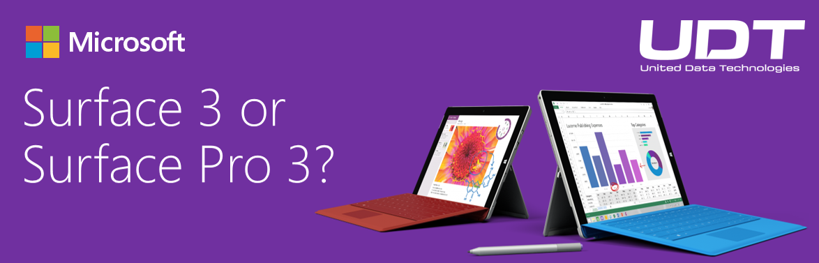 Surface Pro 3 and Surface 3 - with UDT Logo